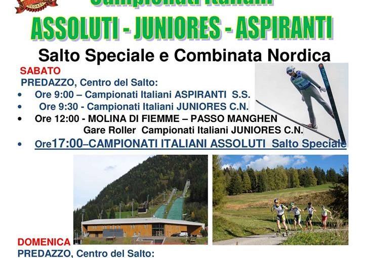CAMPIONATI ITALIANI ASSOLUTI, JUNIORES E ASPIRANTI