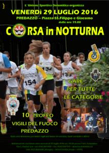 Manifesto corsa in notturna 2016