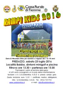 Volantino Rampi Kids 2016