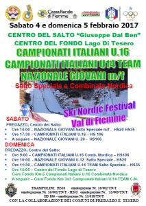 4-5.02.2017 Campionati Italiano Salto e Comb.Nordica Nordik Ski Festival