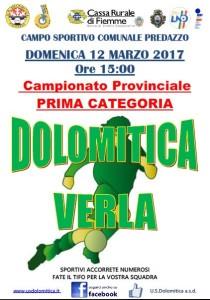 12.03.2017 Dolomitica vs Verla