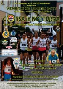 2017.7.28 Predazzo Manifesto Corsa in Notturna