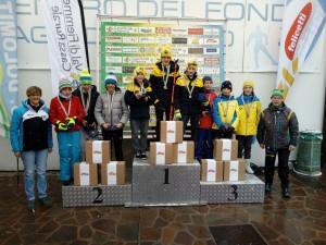 podio U14 TEAM combinata nordica
