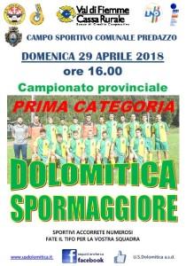 29.04 Dolomitica vs Spormaggiore