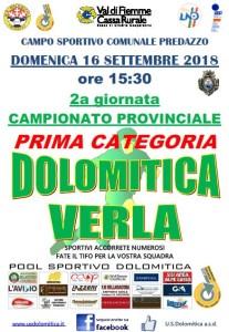 Partita 16.09.2018 Dolo-Verla