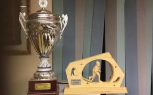 Trofeo 2006 e 2019 uno accanto all'altro