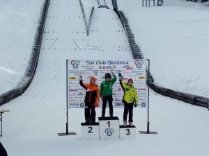podio U10 salto - 3° Manuel Boninsegna