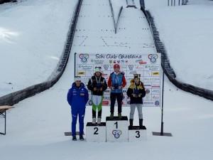 podio combinata camp.ita U12 femm - 2a Maya Delugan
