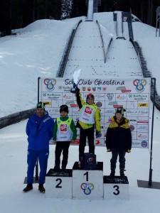 podio coppa italia U10 combinata 1° Manuel Boninsegna